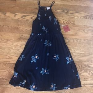 NWT BLUE FLORAL DRESS